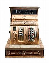* An American Brass Cash Register Height 18 x width 16 x depth 10 inches.