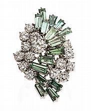 * A Platinum, Diamond and Treated Diamond Ring, Kutchinsky, 16.80 dwts.