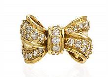 * An 18 Karat Yellow Gold and Diamond Ring, Jose Hess, 7.50 dwts.