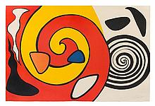 Alexander Calder, (American, 1898-1976), Untitled (Spirals and Forms), c. 1965