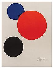 Alexander Calder, (American, 1898-1976), Cercles noir, bleu, rouge, 1973