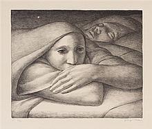 George Tooker, (American, 1920-2011), Night, 1998