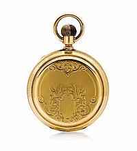 * An 18 Karat Yellow Gold Hunter Case Pocketwatch, American Watch Co., 93.70 dwts.