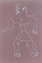 Karl Wirsum, (American, b. 1939), Untitled (Robot Lady)