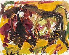 Elaine de Kooning, (American, 1918-1989), Standing Bull, c. 1957