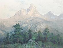Charles Partridge Adams, (American, 1858-1942), Lizard Head Peak