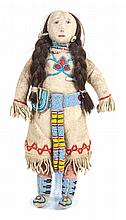 A Crow Beaded Doll by Among the Sheep Height 11 inches.