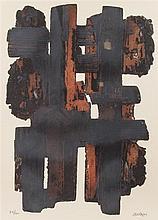 Pierre Soulages, (French, b. 1919), Eau-Forte IX, 1957