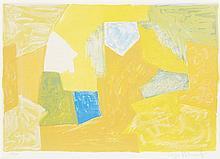 * Serge Poliakoff, (Russian, 1906-1969), Composition en jaune, orange et verte, 1957