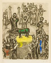 Marc Chagall, (French/Russian, 1887-1985), The Golden Calf (from The Bible)