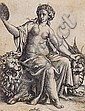 Marcantonio Raimondi, (Italian, 1470-1534), Woman with Dragon