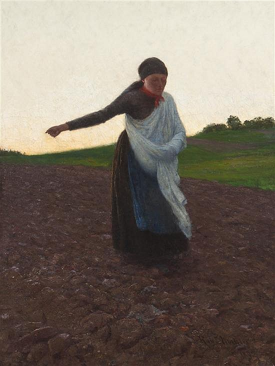 * Robert Koehler, (Wisconsin, 1850-1917), The Sower, 1892