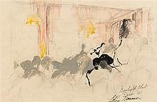 LeRoy Neiman, (American, 1921-2012), Gas Light Club Paris, 1961