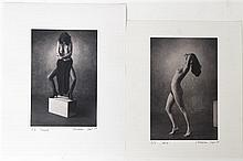 * Christian Vogt, (Swiss, b. 1946), Yvonne and Irene, 1979 (two works)