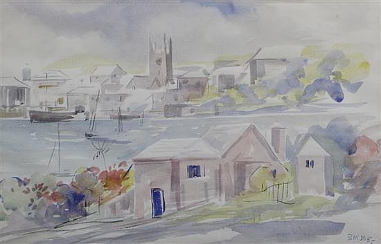 Alfred Birdsey, (Bermudan, 1912-1996), Harbor Scene, Bermuda, 1955