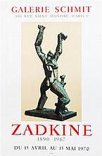 * After Ossip Zadkine, (Russian, 1890-1967), Exhibition Poster for Galerie Schmit