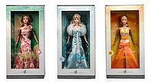 * Three Silver Label Dream Seasons Barbies