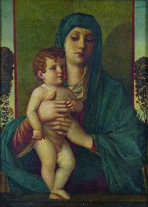 After Giovanni Bellini, (Italian, ca. 1426-1516), Madonna Degli Alboretti (Madonna of the Small Trees)