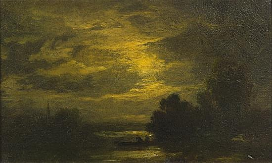 * Albert Pinkham Ryder, (American, 1847-1917), Fisherman at Dusk