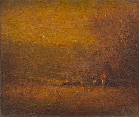 * Albert Pinkham Ryder, (American, 1847-1917), Autumn Gold
