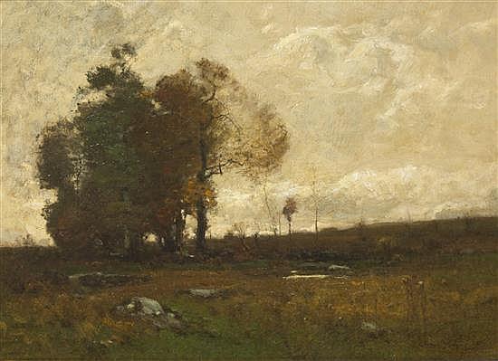 John Francis Murphy, (American, 1853-1921), Fall Fields, 1887