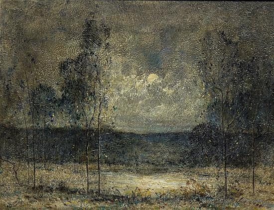 Felix Russman, (American, 1888-1962), Moonlight