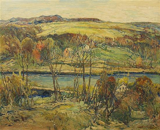 * Charles Reiffel, (American, 1862-1942), Autumn River Valley