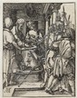 Albrecht Durer, (German, 1471-1528), Pontius Pilate Washing his Hands (from The Small Passion series)Trimmed along the boarder line