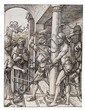 Albrecht Durer, (Geman, 1471-1528), The Flagellation (from The Small Passion series)Trimmed along the boarder line with one break in th