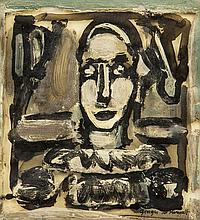 * Attributed to Georges Rouault, (French, 1871-1958), Clown
