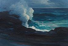Leon Lundmark, (American, 1875-1942), Battle of the Waves