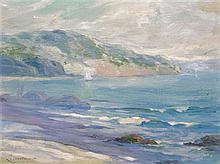 Leon Lundmark, (American, 1875-1942), Light Blue Seascape