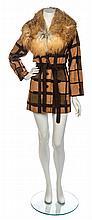 * An Emanuel Ungaro Brown Suede Trench Coat, No size.