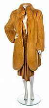 * An Emanuel Ungaro Goldenrod Dress and Fur, No size.