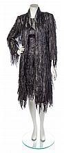 * An Emanuel Ungaro Grey Silk Dress and Matching Coat, Size 40.
