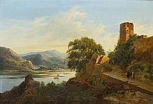 * Attributed to Nicolas-Antoine Taunay, (French, 1755-1830), Walking the Ruins