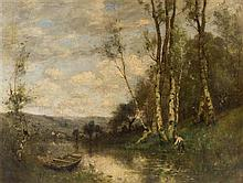 * After Jean-Baptiste-Camille Corot, (French, 1796-1875), View of the Louvre River