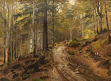 Hugo Darnaut, (Austrian, 1850-1937), Gathering Wood, 1886