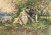 * Ferdinand Heilbuth, (French, 1826-1889), Courting Couple, 1868, Ferdinand Heilbuth, $0