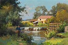 Edouard Leon Cortes, (French, 1882-1969), Moulin de Verneuil