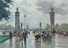 Edouard Leon Cortes, (French, 1882-1969), Entrance of the Grand Palais