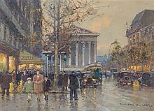 Edouard Leon Cortes, (French, 1882-1969), Place de la Republique