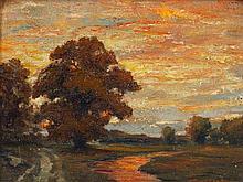 Robert Emmett Owen, (American, 1878-1957), Sunset Landscape