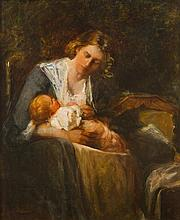 * Mary Curtis Richardson, (American, 1848-1931), Mother and Child
