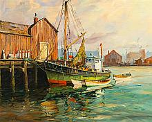 * Richard Hayley Lever, (American, 1876-1958), Early Morning, Gloucester, Mass.