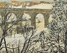 * Richard Hayley Lever, (American, 1876-1958), High Bridge, Harlem River, New York