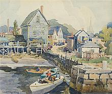 James Jeffrey Grant, (American, 1883-1960), The Pier