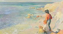 * Adam Emory Albright, (American, 1862-1957), Boys at Laguna Beach, CA