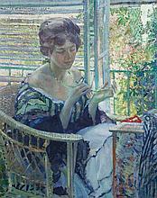 * Richard Edward Miller, (American, 1875-1943), The Necklace (La Femme au Collier), c. 1913