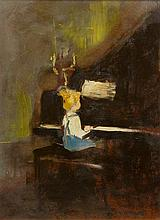 Margery Austen Ryerson, (American, 1886-1989), Girl at the Piano
